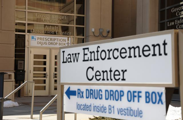 Entrance of Adult Detention Center and Law Enforcement Center