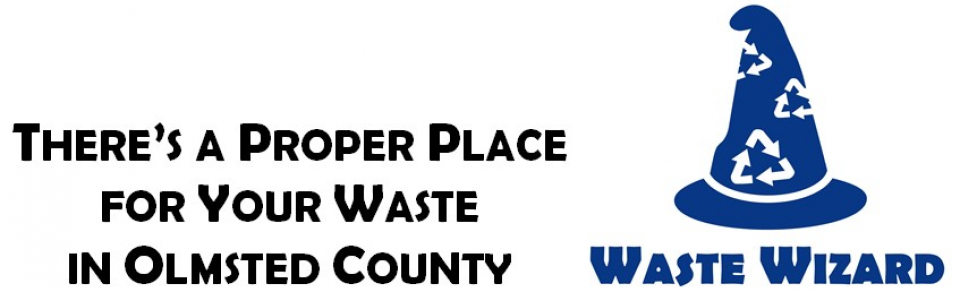 Environmental Resources Slogan and Waste Wizard Logo