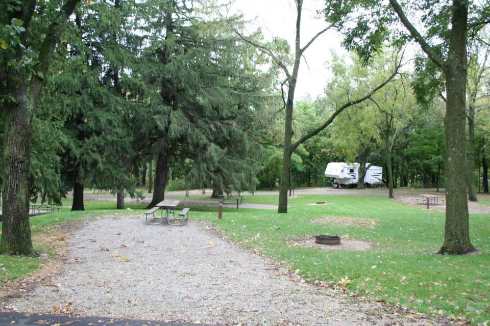 Campsite at Chester Woods Park